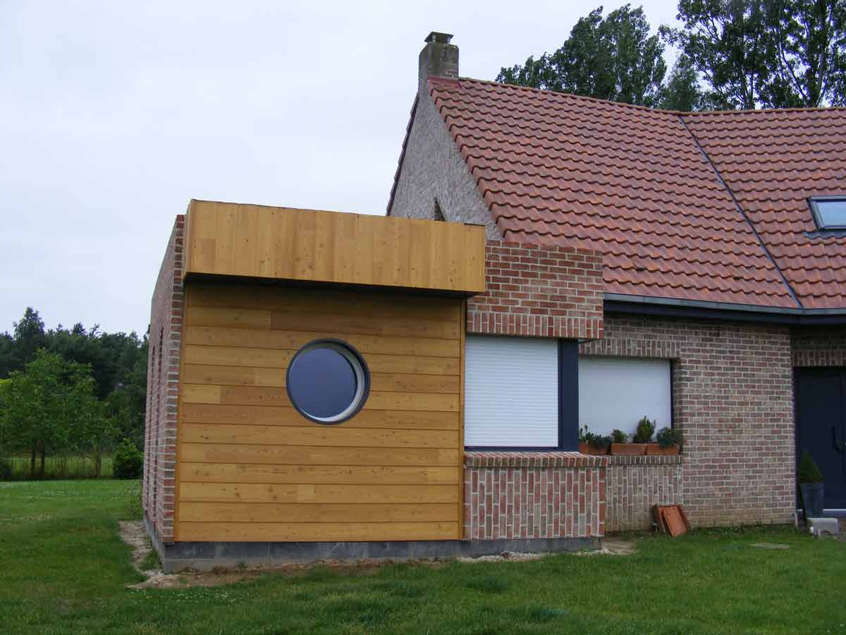Extension en bois floret fr res maisons en ossature bois for Extension maison 74